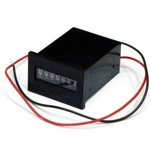 31050601 - EM37-12UVDSE7D (M501712VDC) 7DIGIT PANEL MOUNT METER NON RESET + DIODE (PART O