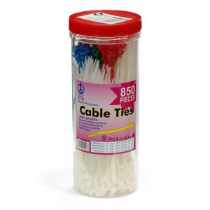 Cable Ties - Assorted Sizes Colours (Pack Of 850)