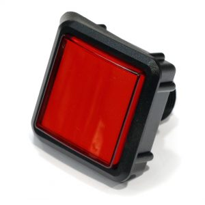 Starpoint Pushbutton - SAPL, Black Body, Clear Legend, Red Lens Cap - CFJNHAHTZF