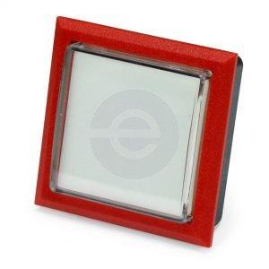 Starpoint Pushbutton - SPBL, Red Body, White Legend, Clear Lens Cap - CBGNHBZZZF